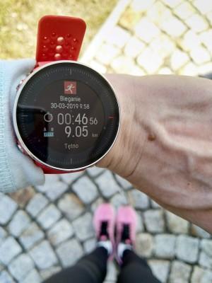 trenerka-biegania, zegarek polar Vantage M