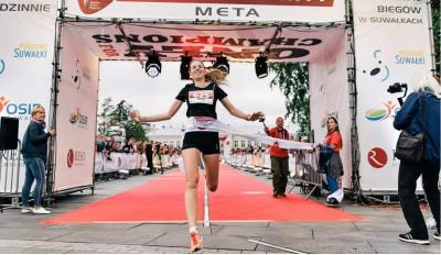 Zwycięstwo biegu w Suwałkach - Trener biegania Kamila Pobłocka-Dobrowolska